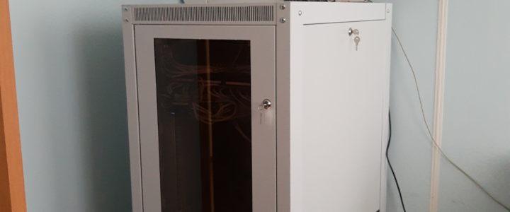Перенос серверного шкафа в управлении по эксплуатации гидротехнических сооружений Курской области